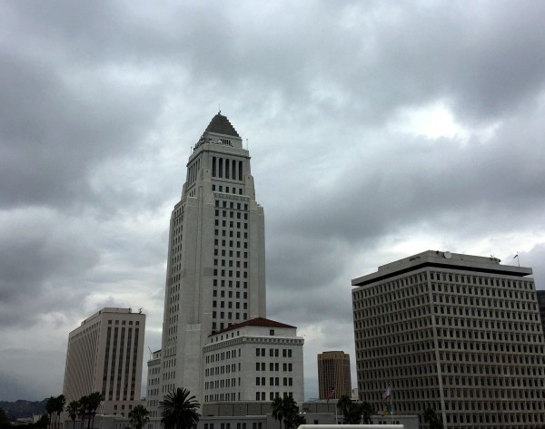 Los Angeles City Hall is seen in an undated photo. (Bryan Chan / Los Angeles Times)