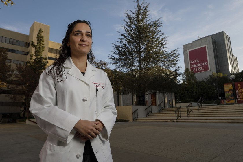 Dr. Meena Zareh, a former cardiology fellow at L.A. County-USC Medical Center, alleged in a lawsuit that she was sexually assaulted by another physician at the hospital in 2015. (Credit: Irfan Khan / Los Angeles Times)
