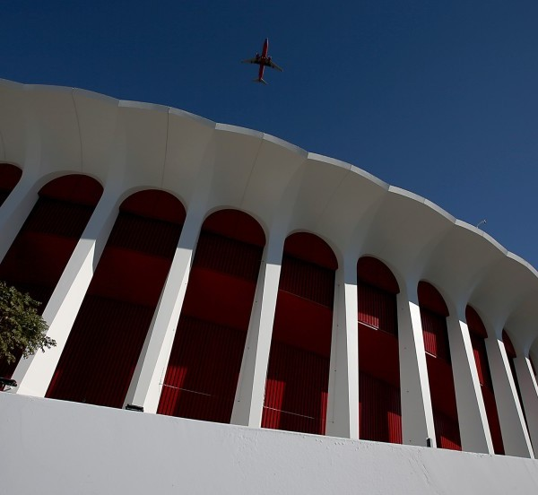 The Forum in Inglewood is seen in an undated file photo. (Credit: Luis Sinco / Los Angeles Times)