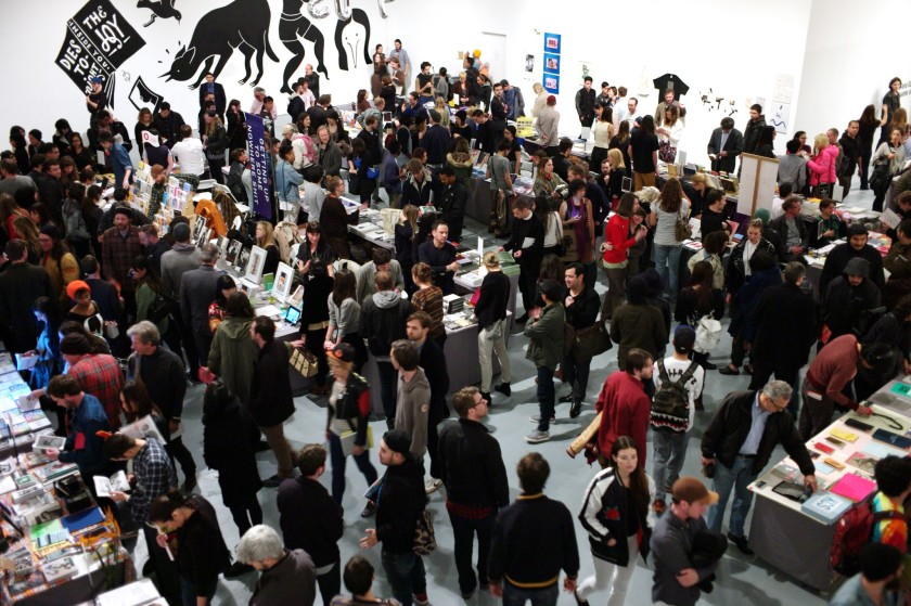 The L.A. Art Book Fair at MOCA's Geffen Contemporary in downtown Los Angeles typically attracts more than 30,000 people.(Vaan / L.A. Art Book Fair via Los Angeles Times)