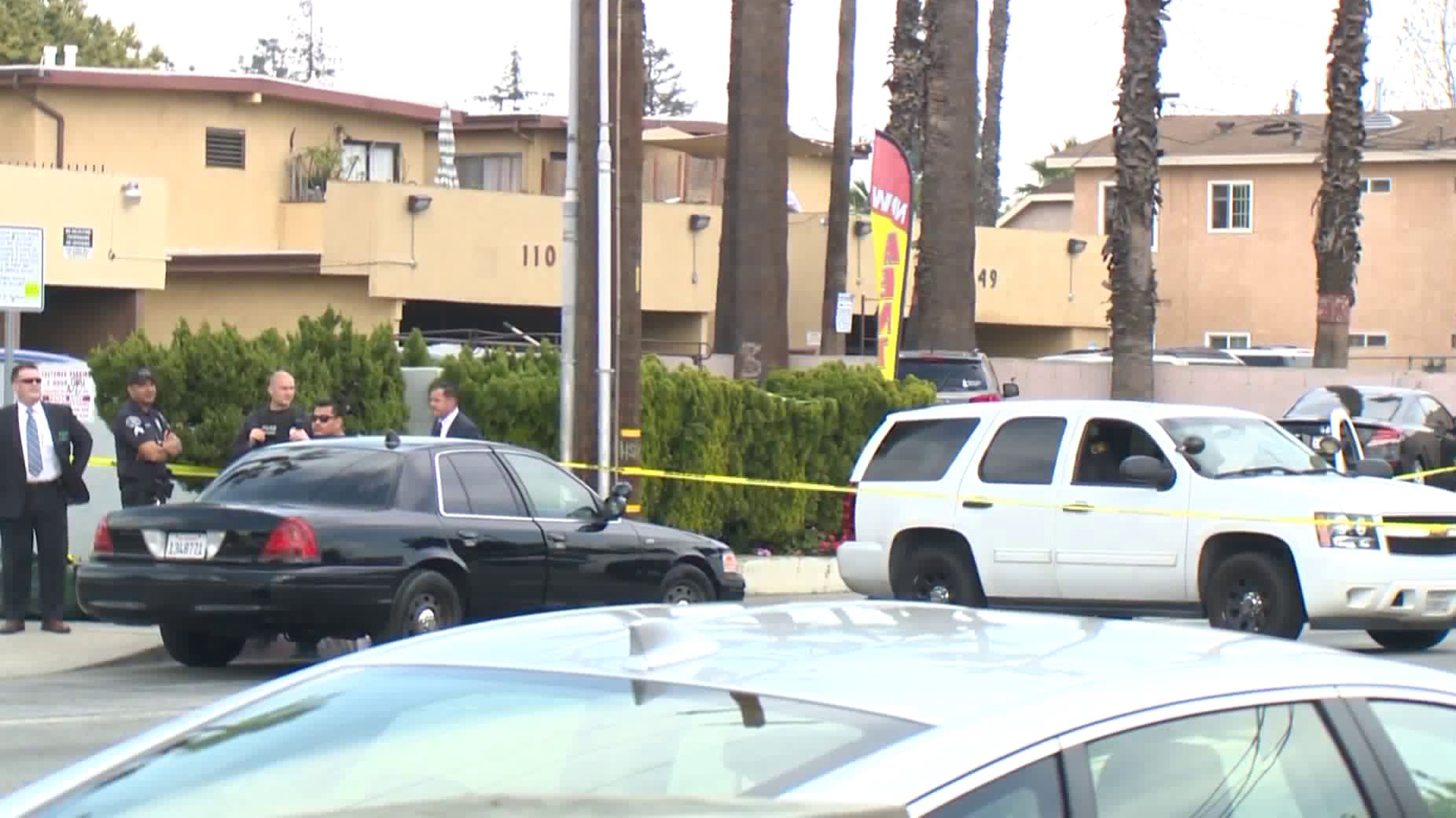 Authorities respond to investigate a deadly shooting in El Monte on March 6, 2020. (Credit: KTLA)