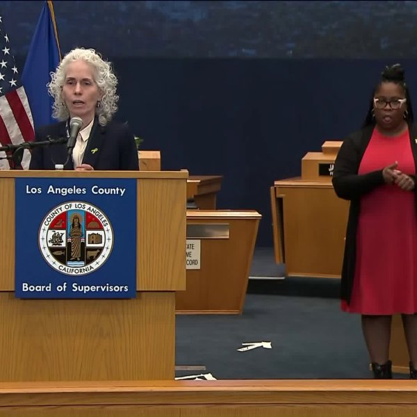 Dr. Barbara Ferrer, director of L.A. County Department of Public Health, provides an update on coronavirus cases in Los Angeles County on March 24, 2020. (Los Angeles County)