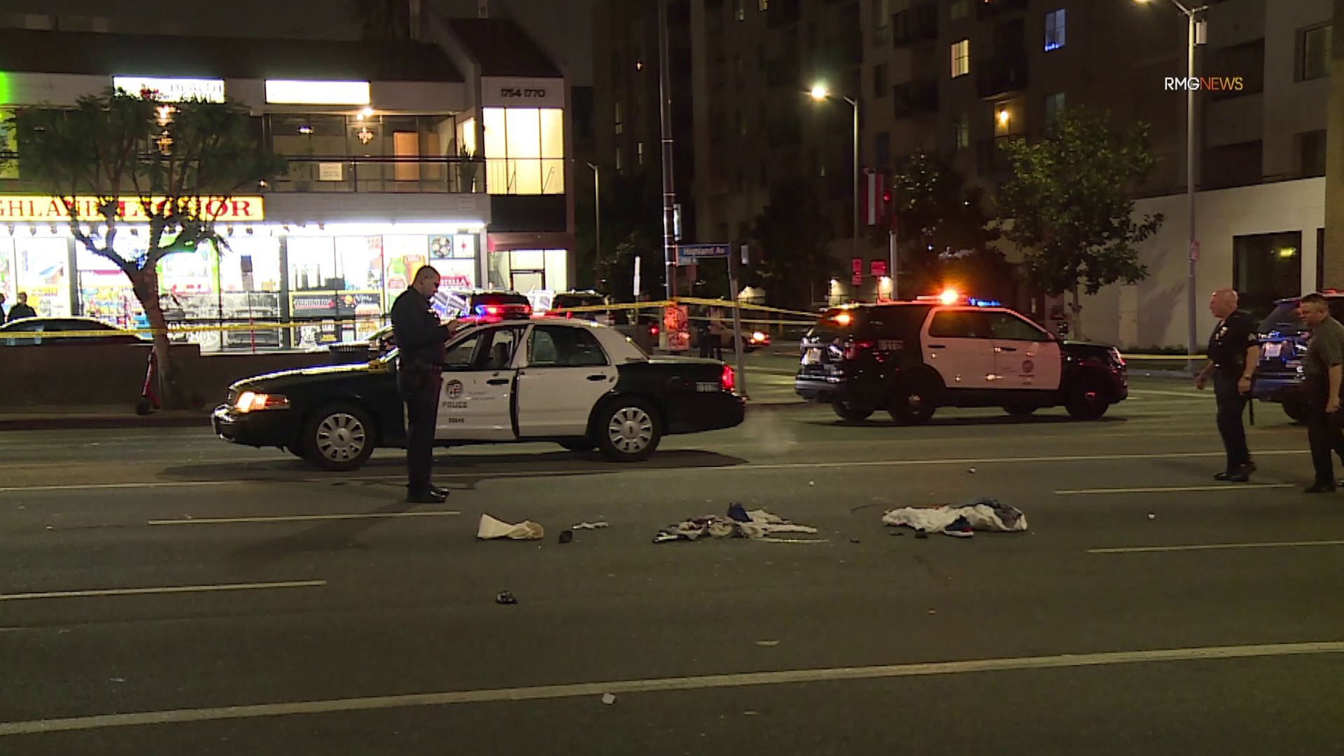 Police investigate a fatal shooting in Hollywood on March 2, 2020. (RMG News)