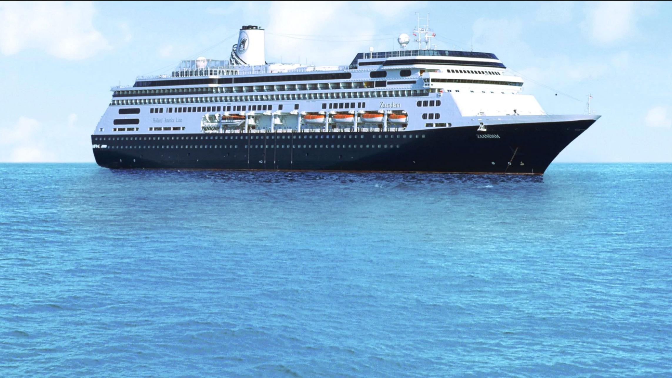 42 people experiencing flu like symptoms are aboard Holland America's Zaandam cruise ship. (Holland America Line)