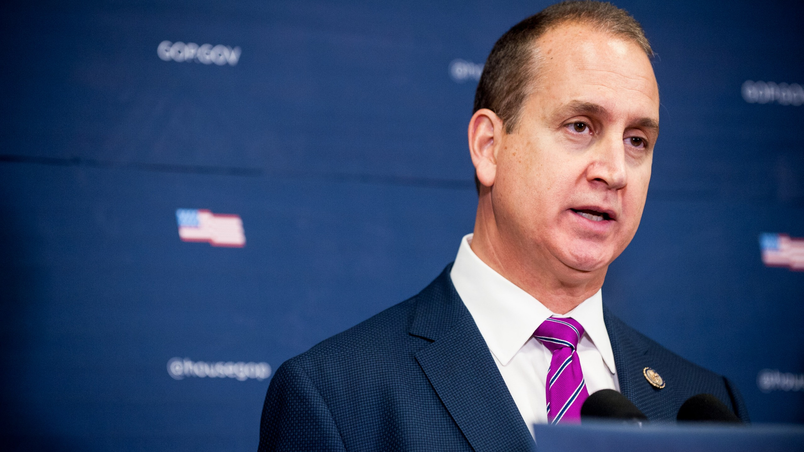 Republican Rep. Mario Diaz-Balart of Florida has become the first member of Congress to test positive for coronavirus, he tweeted on Wednesday. (Pete Marovich/Getty Images)