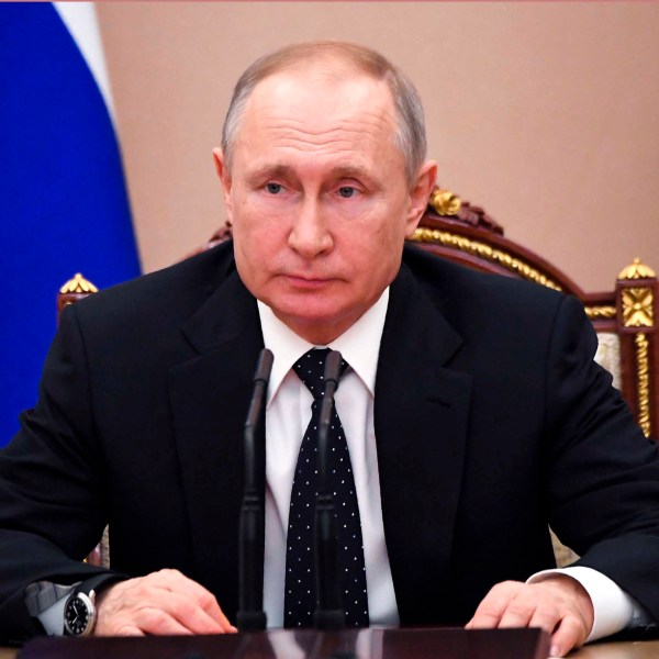 Russian President Vladimir Putin responded to criticism over the number of recorded cases. (Alexei Nikolsky/AP)