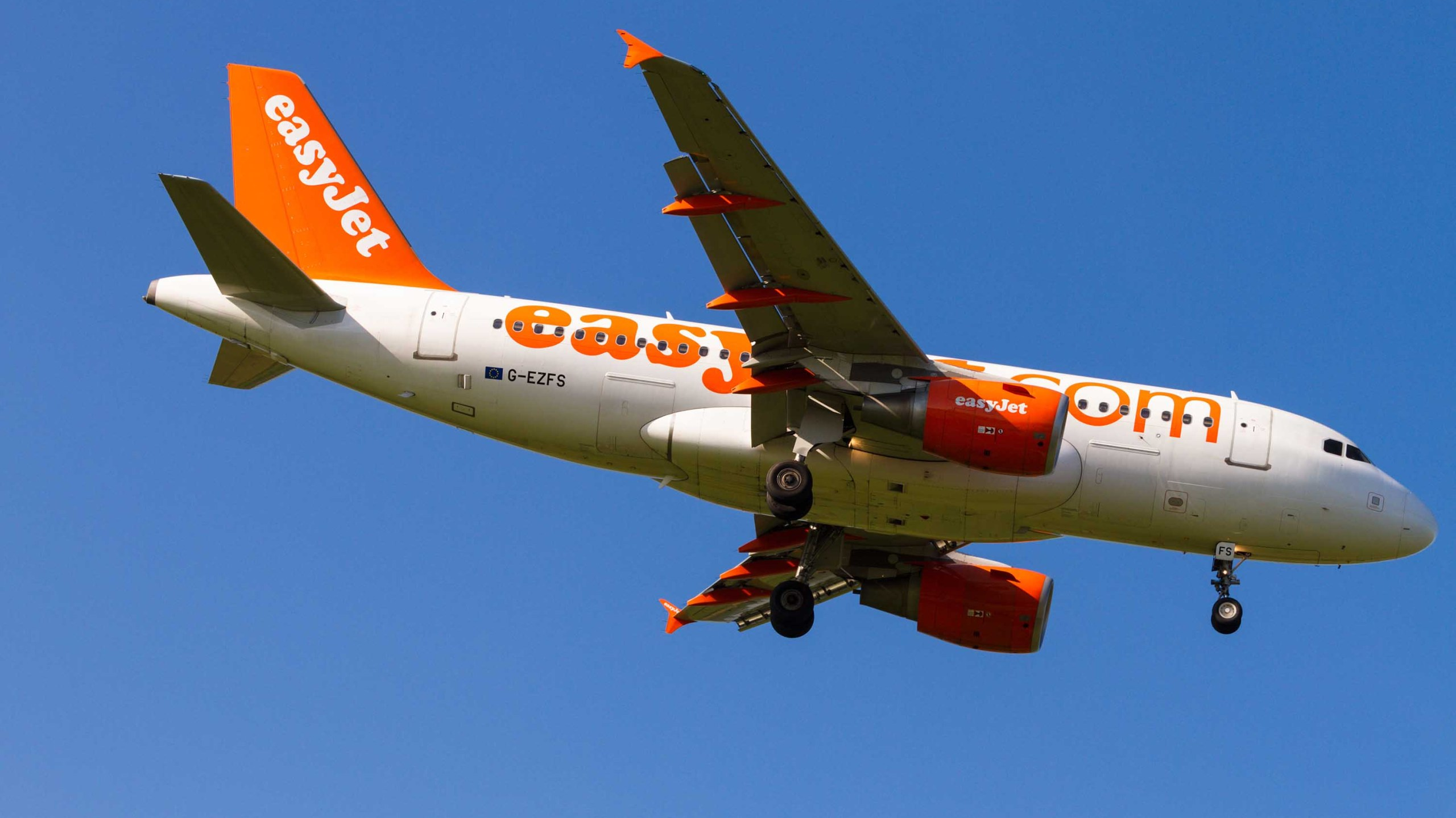 An Easyjet plane is pictured coming in to land in Manchester, England, in November 2013. (Shutterstock via CNN Wire)
