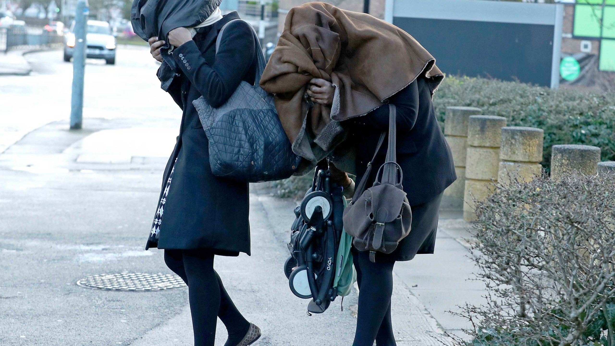 The two women appeared at Uxbridge Magistrates' Court on March 3. (Yui Mok/AP via CNN Wire)