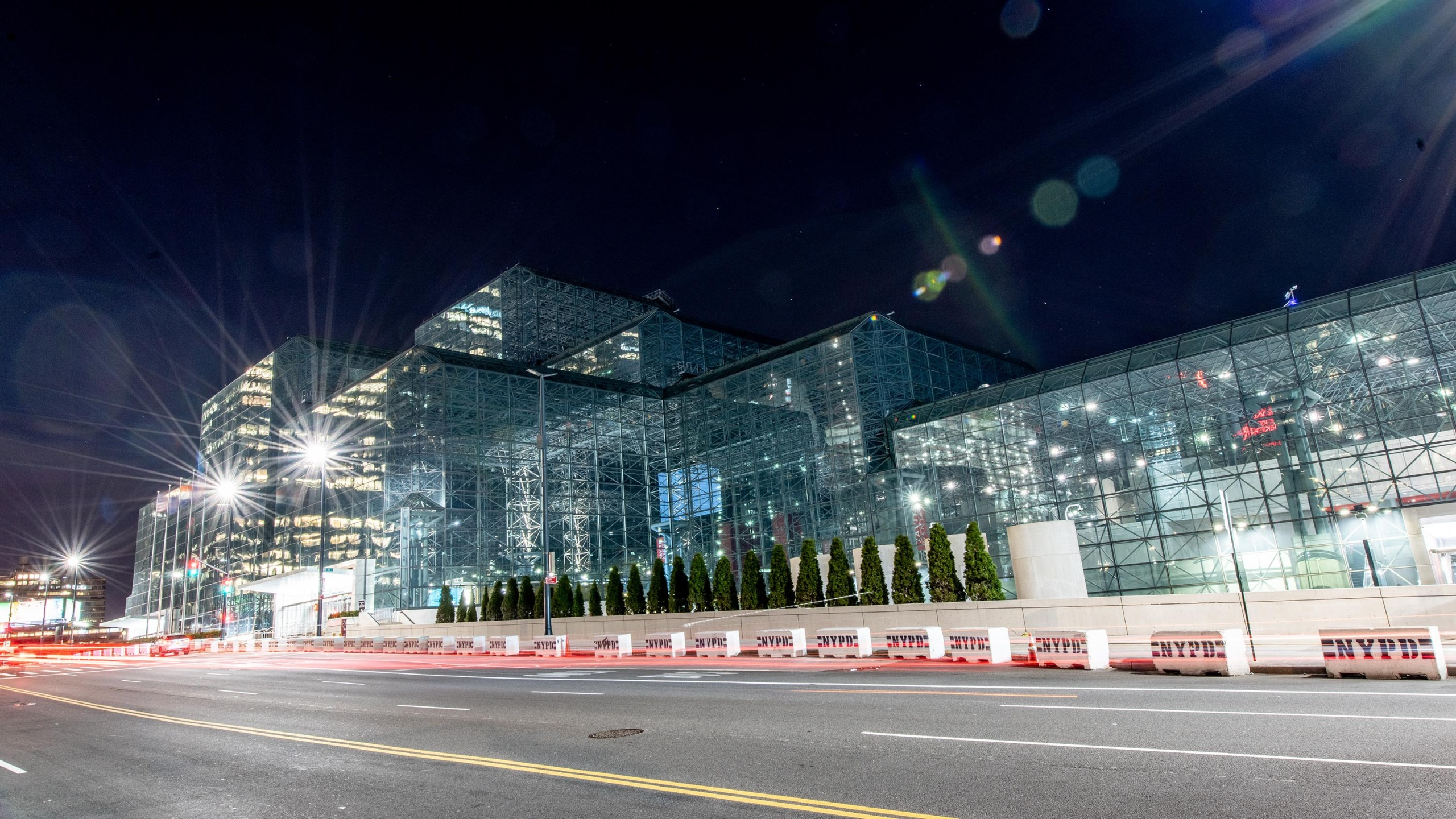 A view of Javits Center in Manhattan on March 13, 2020. (Roy Rochlin/Getty Images)