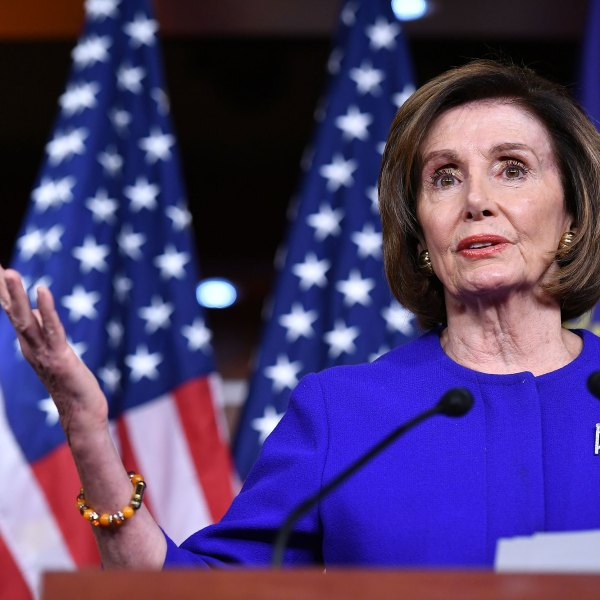 House Speaker Nancy Pelosi speaks during her weekly press conference at the US Capitol in Washington, DC on Feb. 13, 2020. (Mandel Ngan/AFP via Getty Images)