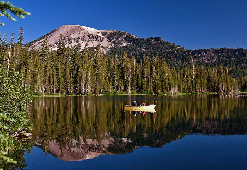 A lake in Mono County is seen in this undated photo. (Chad McDermott / Los Angeles Times)