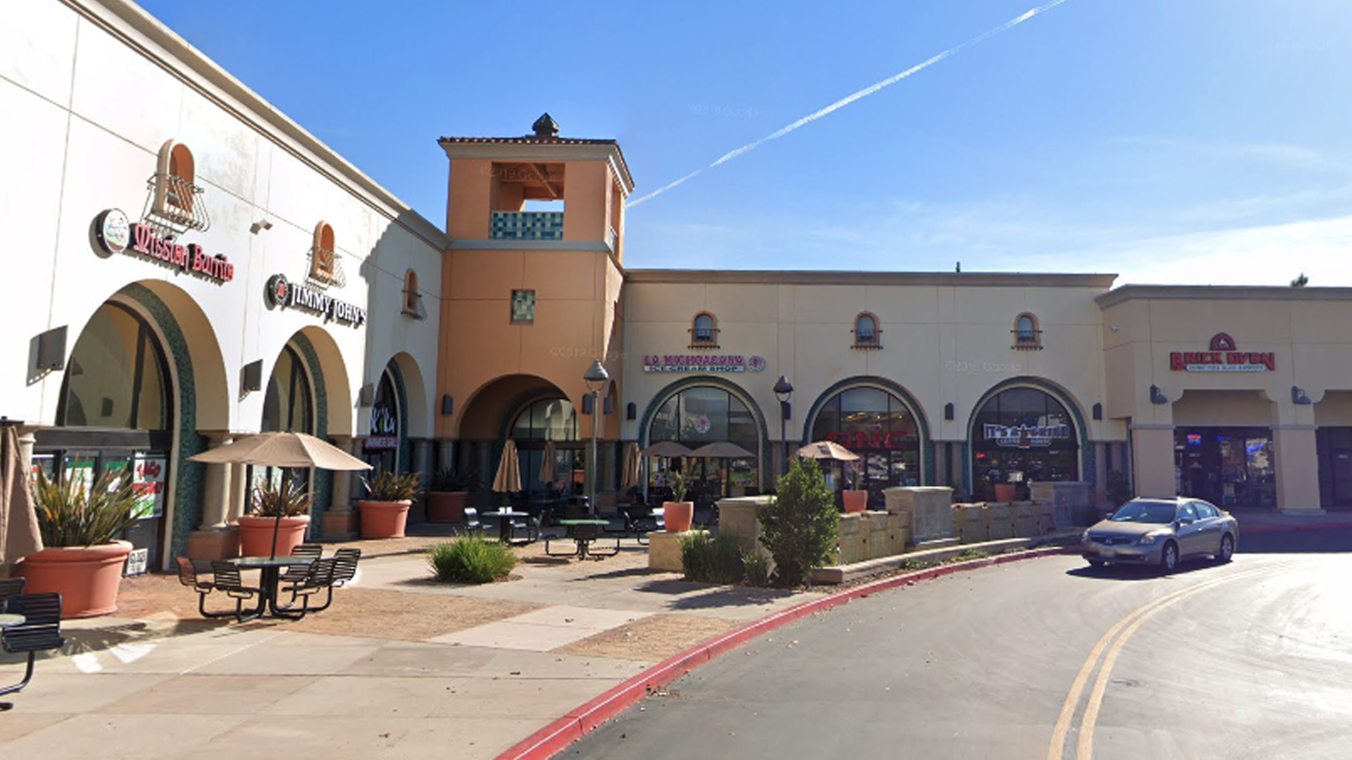 Mission Burrito and Brick Oven Pizza at the Moorpark Marketplace are seen in a Google Maps Street View image.