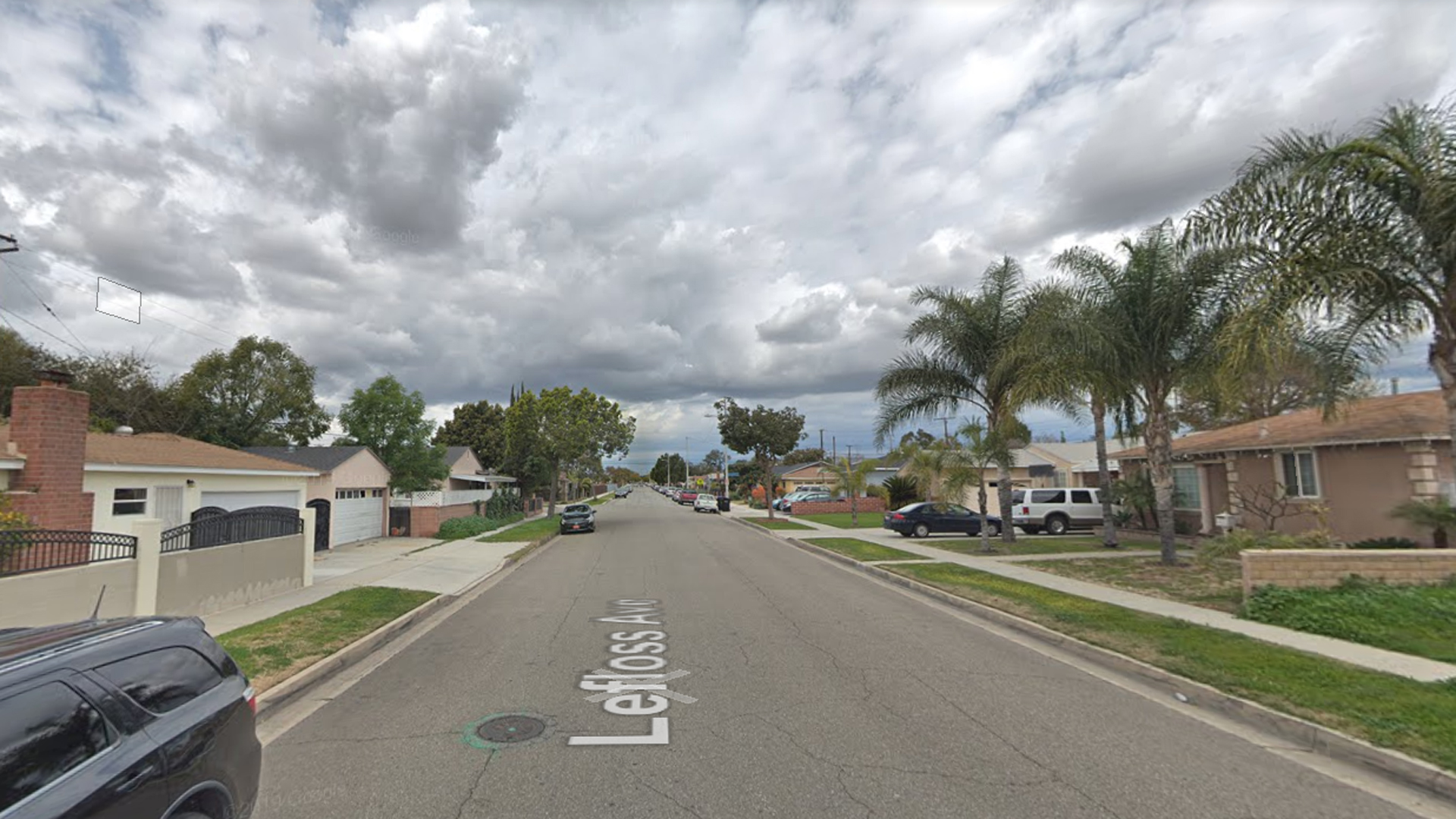 The 15400 block of Lefloss Avenue in Norwalk is shown in a Street View image from Google Maps.