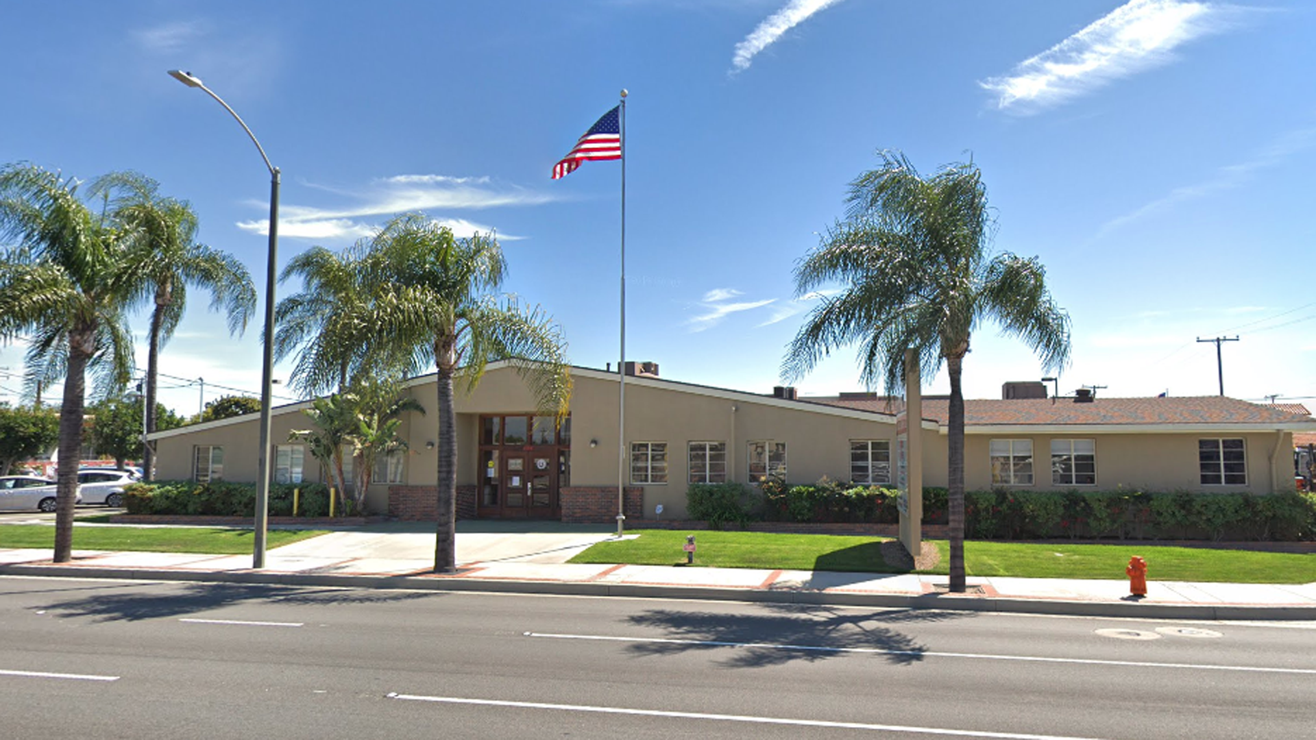 The headquarters of the Democratic Party of Orange County is shown in a Street View image from Google Maps.