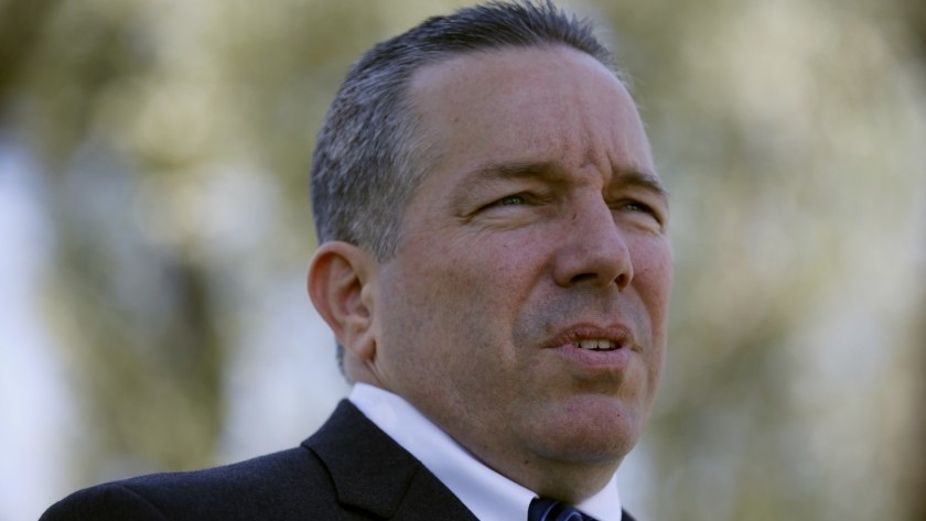 Los Angeles County Sheriff Alex Villanueva is out as head of emergency operations. (Francine Orr / Los Angeles Times)