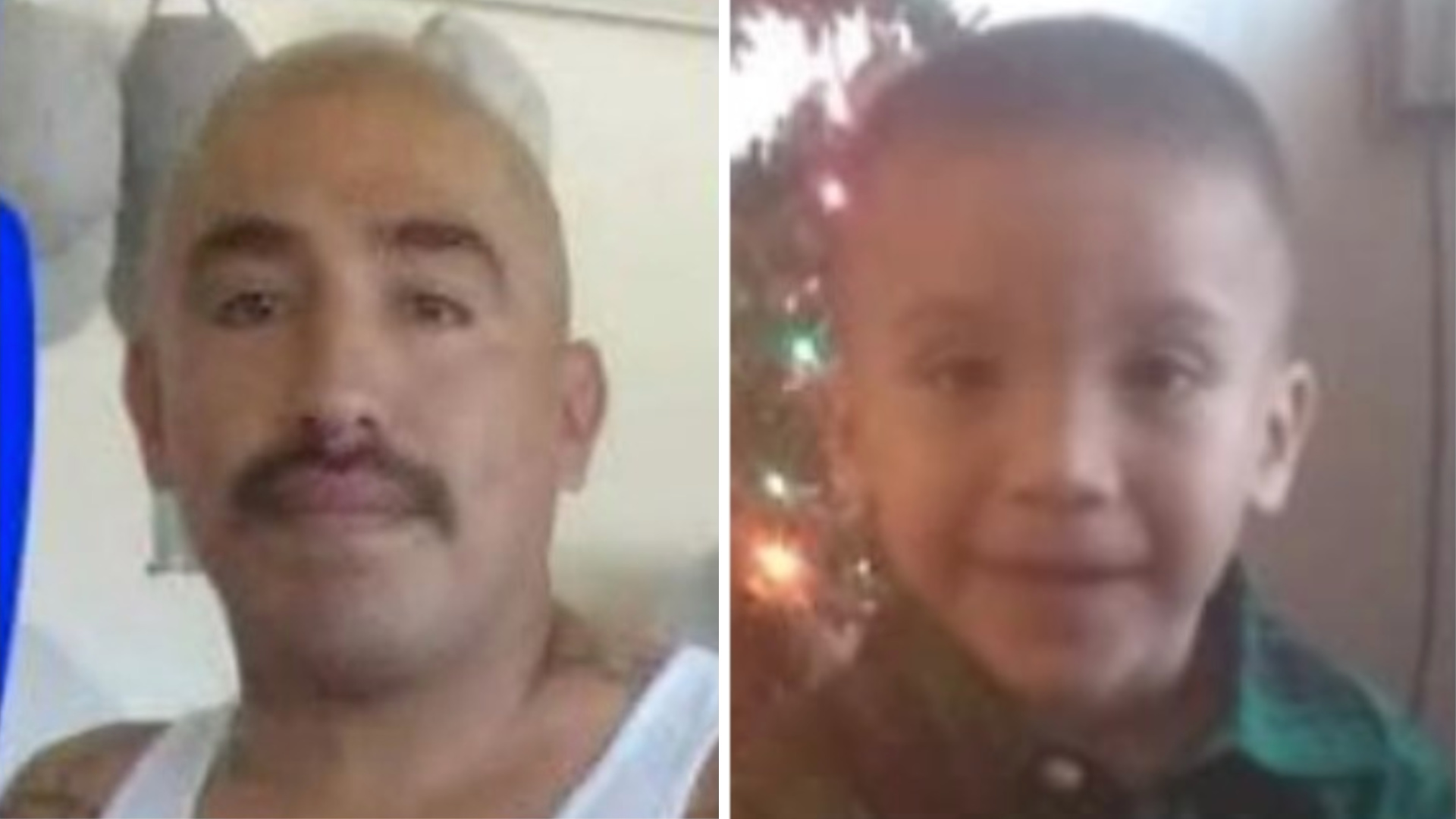 Javier Vidal, 36, left, and his son Elias Vidal, 2, were sought in an Amber Alert issued out of Lamont on April 12, 2020. (California Highway Patrol)