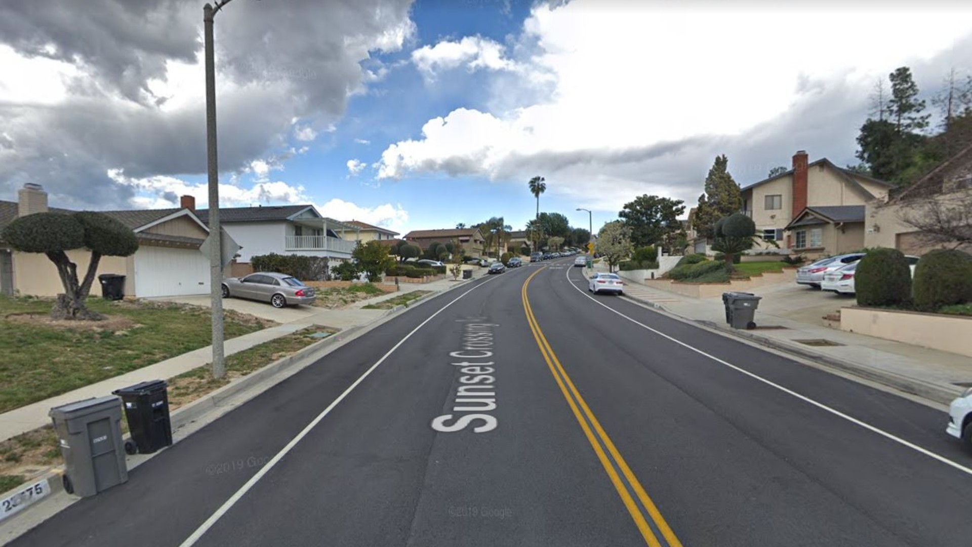 The 23800 block of Sunset Crossing Road in Diamond Bar, as pictured in a Google Street View image.