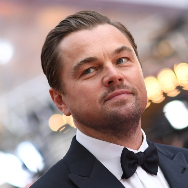 Leonardo DiCaprio arrives for the 92nd Oscars at the Dolby Theatre in Hollywood, California on Feb. 9, 2020. (VALERIE MACON/AFP via Getty Images)