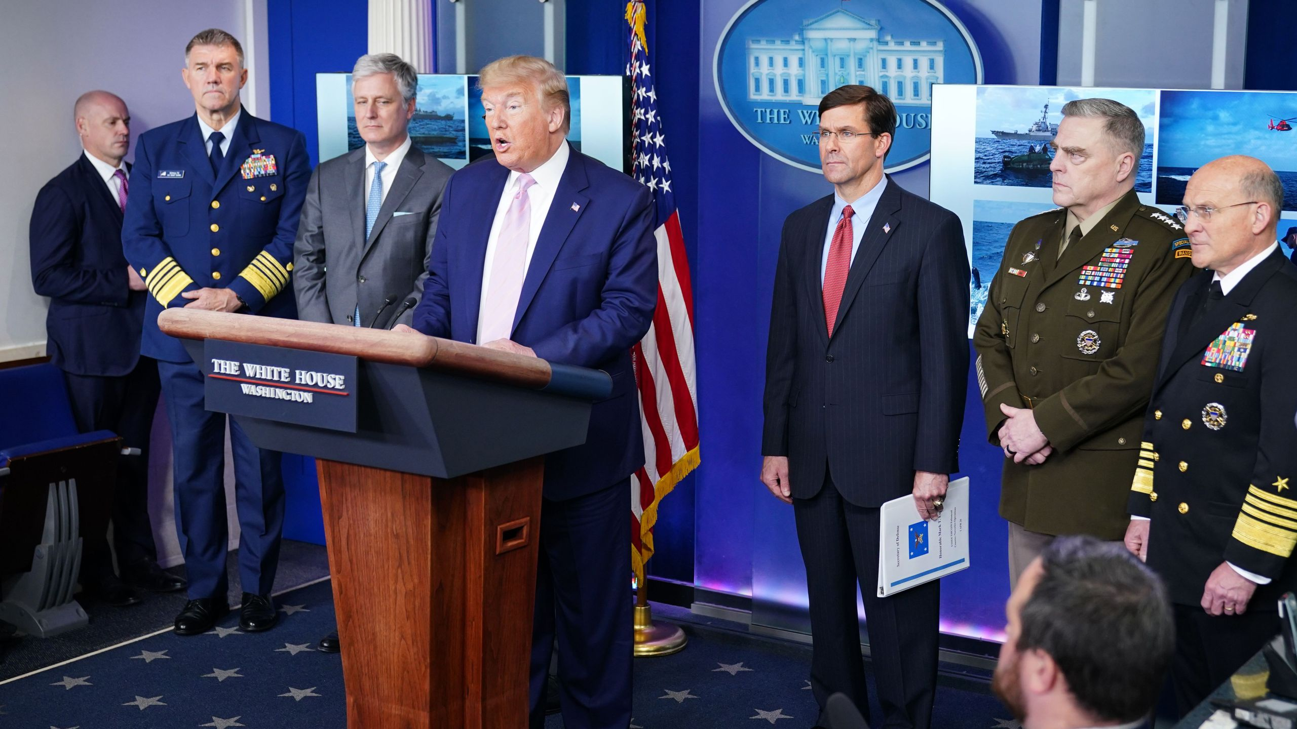 President Donald Trump speaks during the daily briefing on the novel coronavirus, COVID-19, in the Brady Briefing Room at the White House on April 1, 2020. (MANDEL NGAN/AFP via Getty Images)