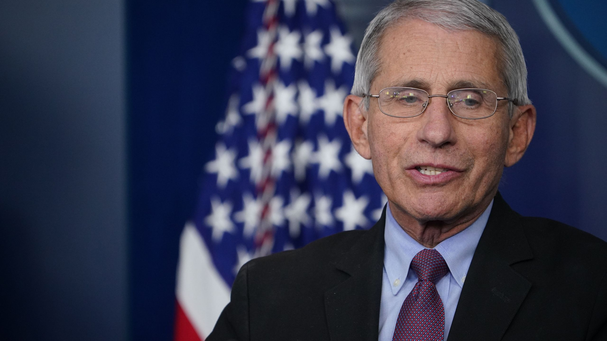 Director of the National Institute of Allergy and Infectious Diseases Anthony Fauci speaks during the daily briefing on the novel coronavirus, which causes COVID-19, in the Brady Briefing Room of the White House on April 22, 2020, in Washington, DC. (MANDEL NGAN/AFP via Getty Images)