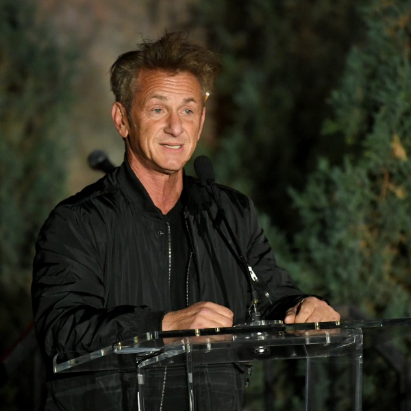 """Sean Penn speaks onstage at the """"Meet Me In Australia"""" event benefiting Australia Wildlife Relief Efforts at Los Angeles Zoo on March 08, 2020, in Los Angeles. (Kevin Winter/Getty Images)"""