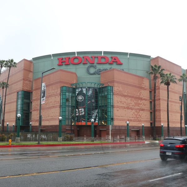 A view of the empty Honda Center on March 12, 2020 in Anaheim, California. (Joe Scarnici/Getty Images)