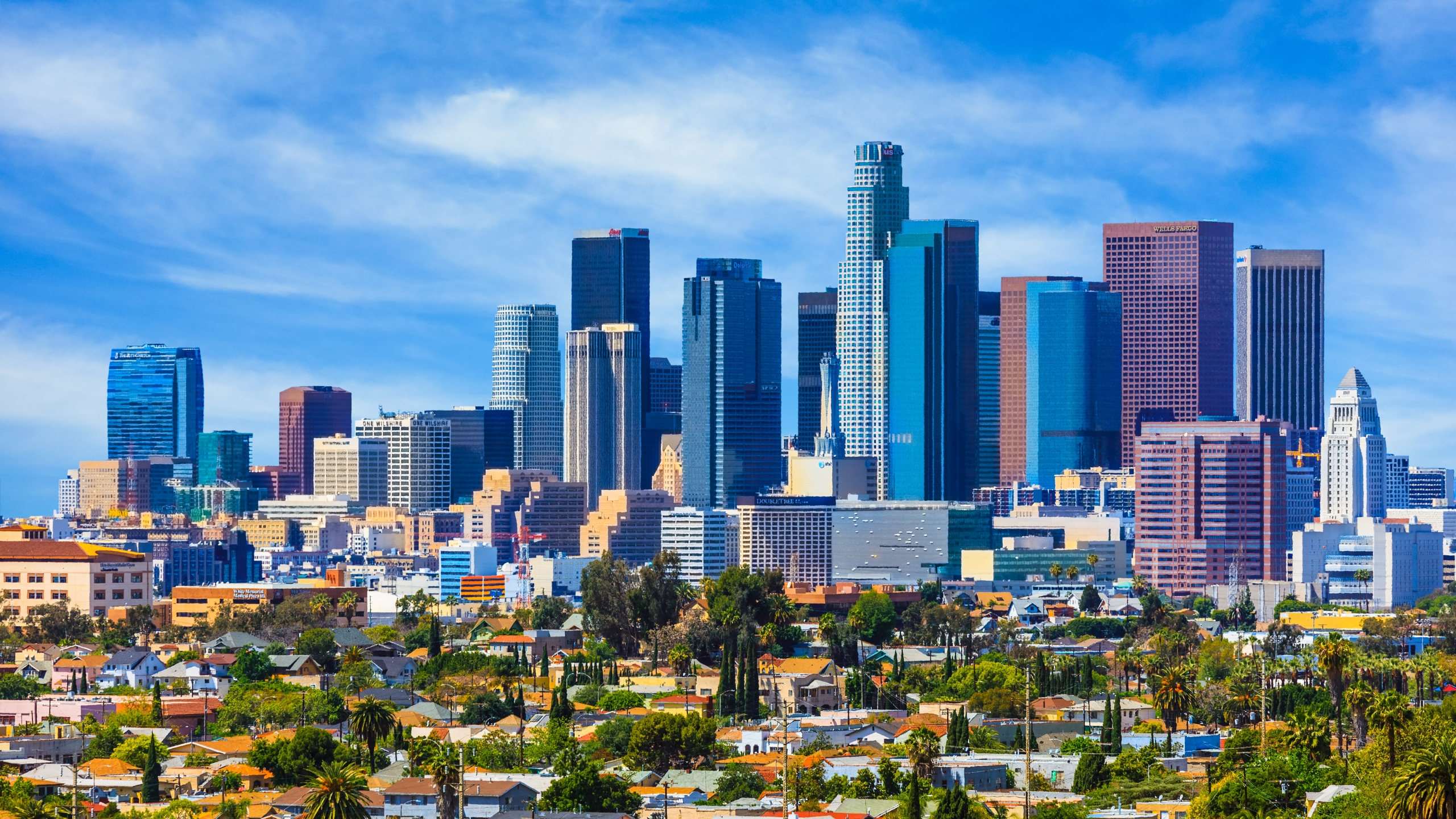 The downtown L.A. skyline is seen in a file photo. (iStock / Getty Images)