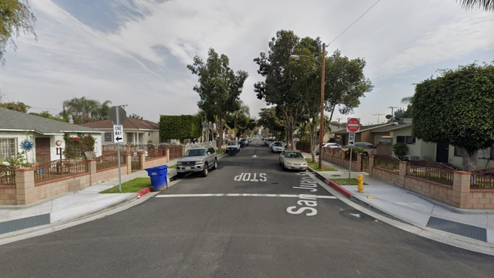 The 6800 block of San Juan Street in Paramount, as viewed in a Google Street View image.