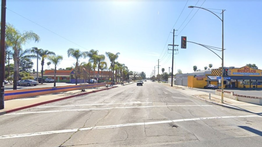 The 100 block of East La Verne Avenue in Pomona, as viewed in a Google Street View image.