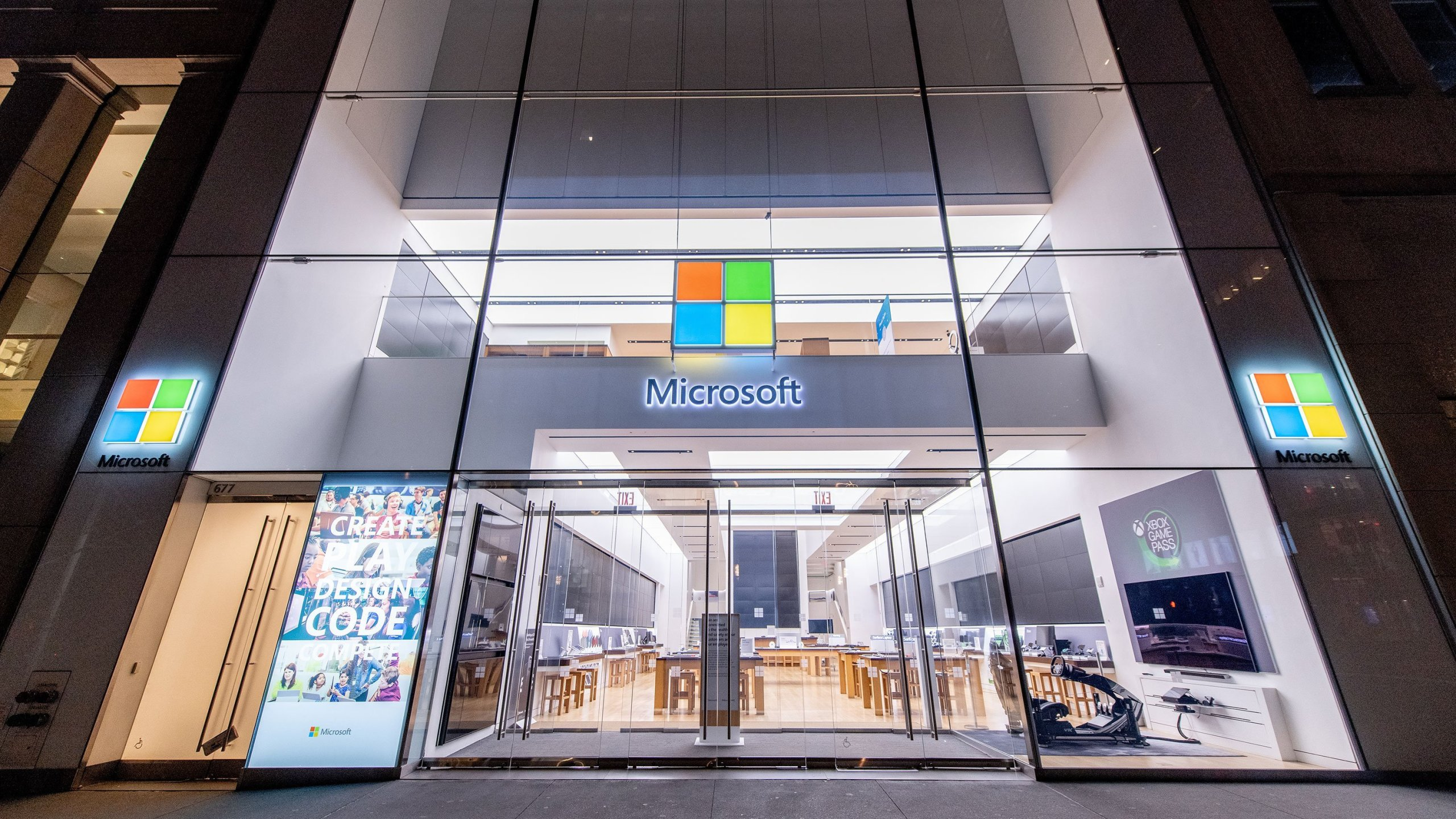 Microsoft is giving its workers an additional three months of paid parental leave to deal with extended school closures due to the coronavirus outbreak. (Roy Rochlin/Getty Images)