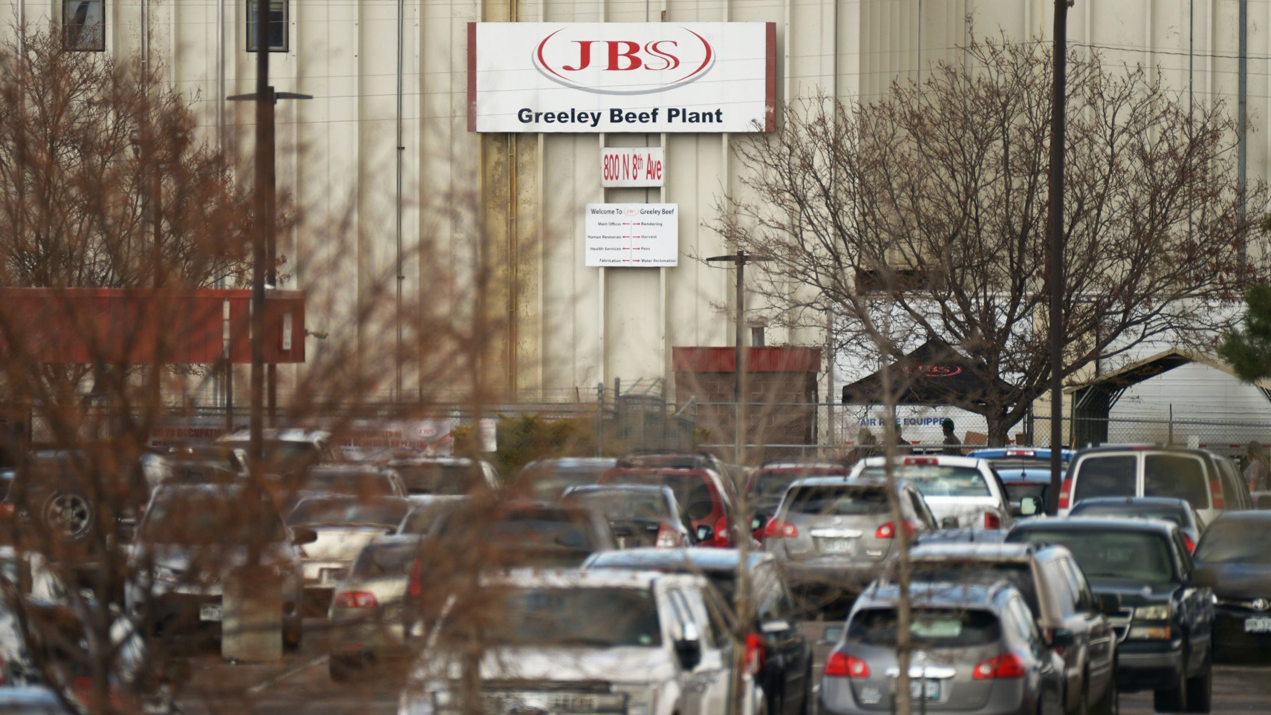 The JBS meatpacking plant in Greeley, Colorado is seen in this undated photo. (Hyoung Chang/MediaNews Group for Denver Post via Getty Images via CNN)