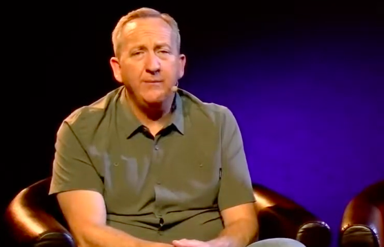 Rob McCoy speaks in a video posted on the YouTube page for the Godspeak Calvary Chapel in Newbury Park on April 4, 2020.