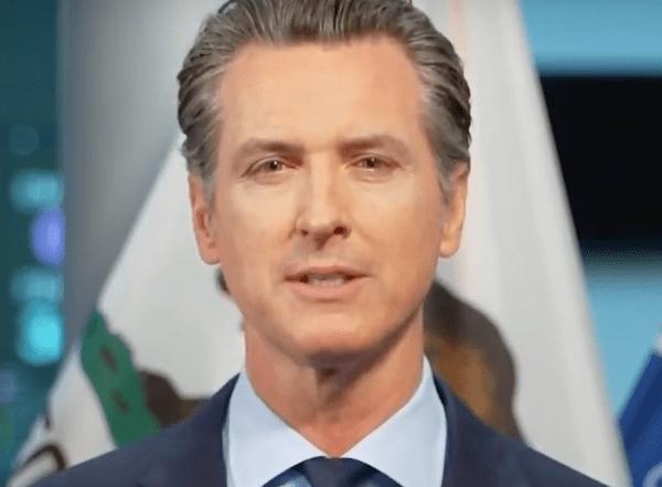 Gov. Gavin Newsom speaks at a news conference in Sacramento on April 7, 2020. (KTLA)