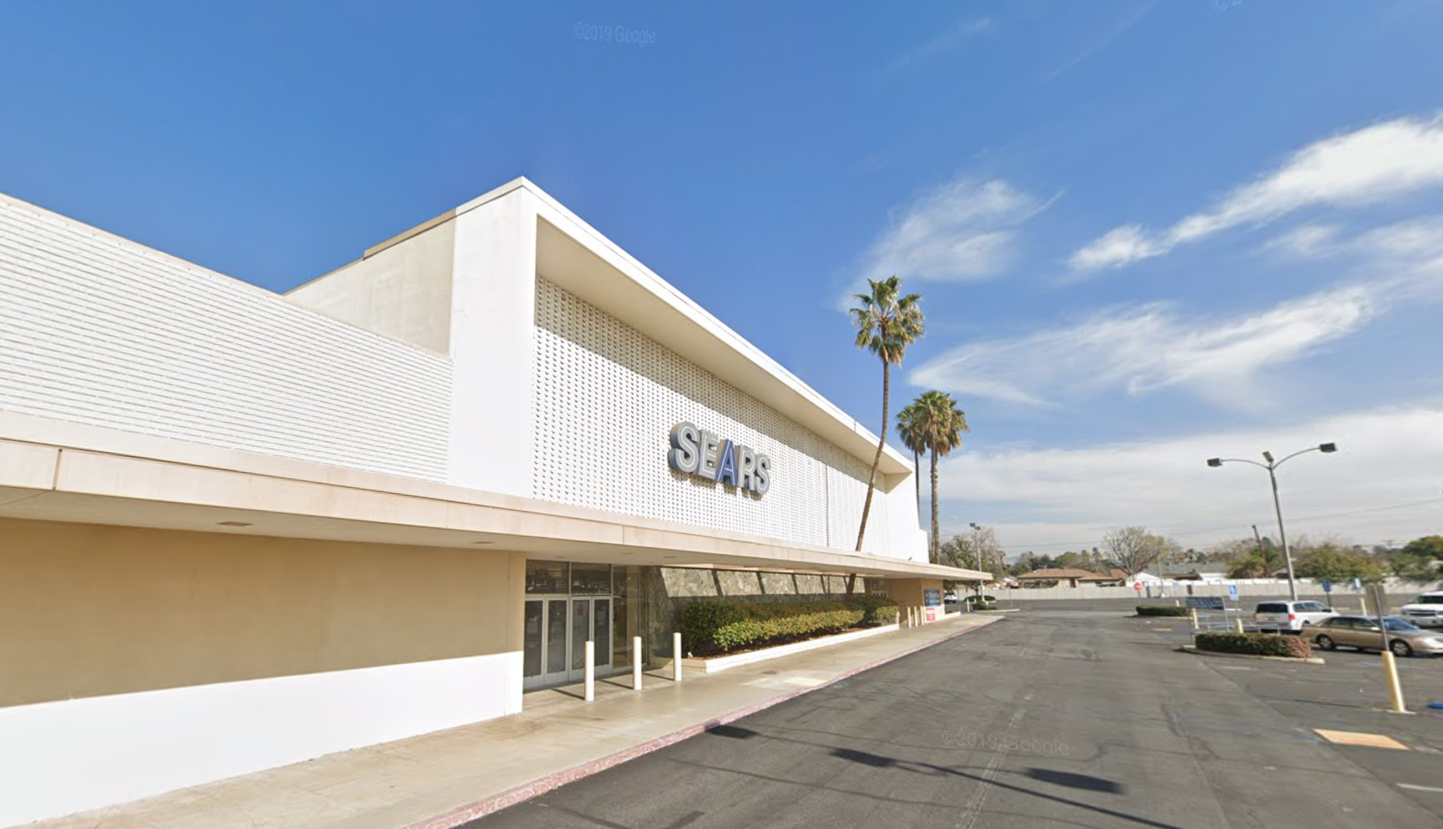 The former Sears building on Arlington Avenue in Riverside is seen in a Google Maps Street View image.