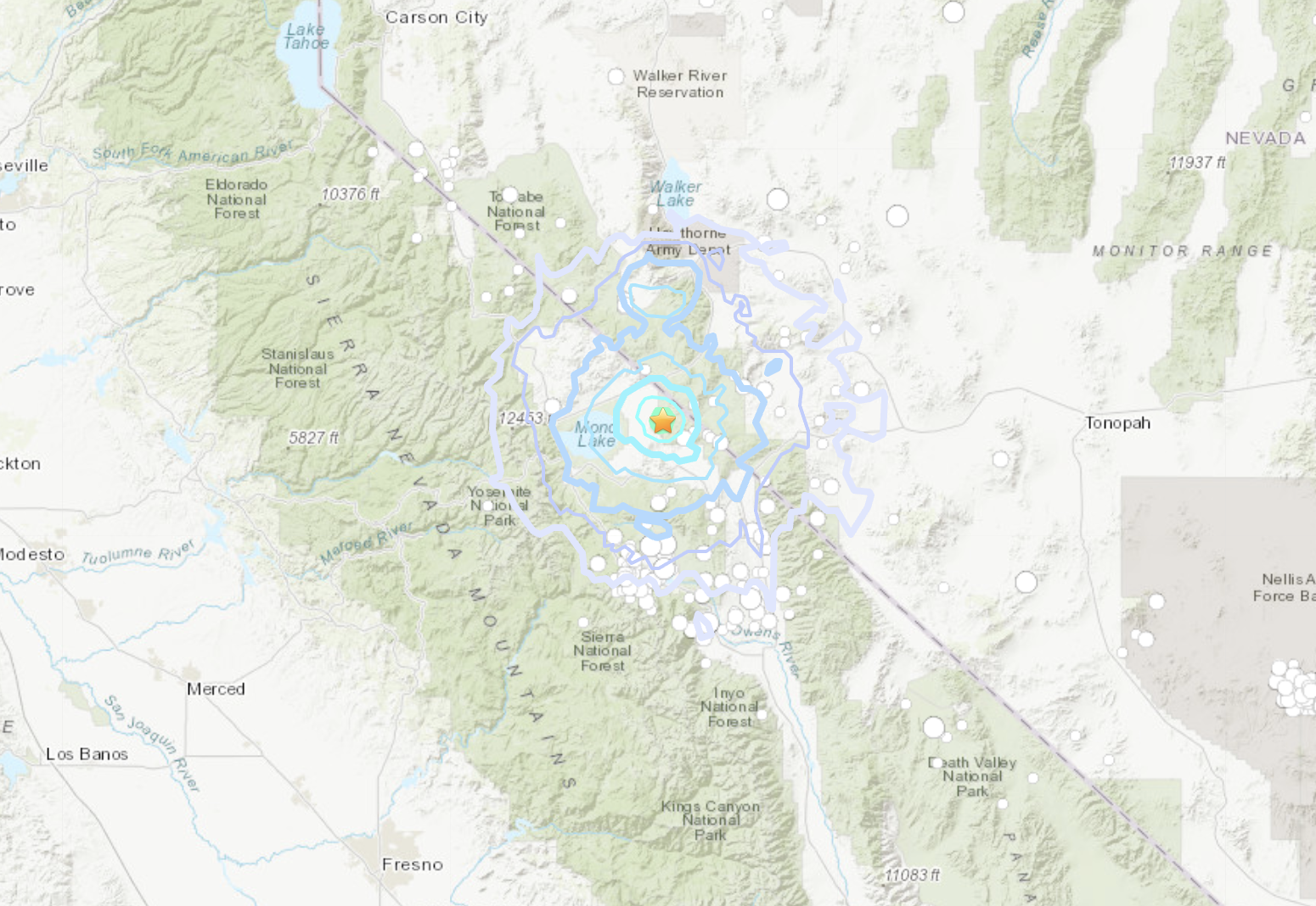 A magnitude 4.0 earthquake rattled a forest area about 17 miles from Bodie, near the California border with Nevada on April 20, 2020, according to the U.S. Geological Survey.