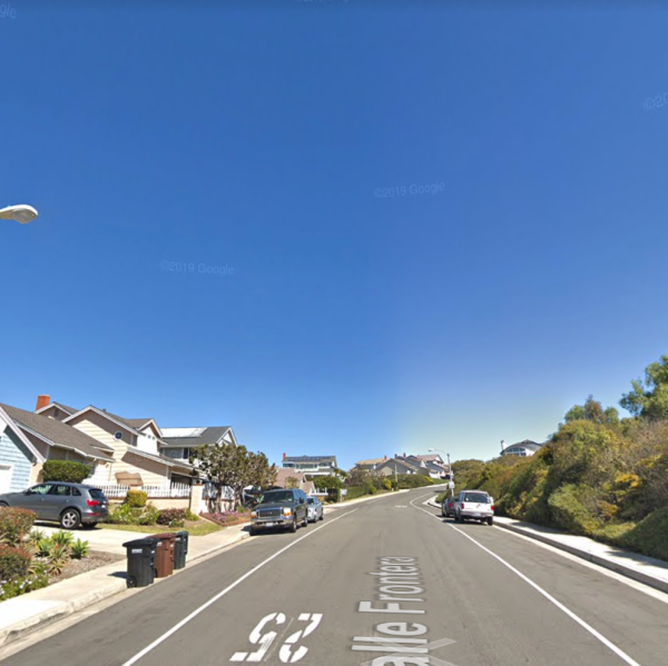 The 3000 block of Calle Frontera in San Clemente appears in this image from Google Maps.