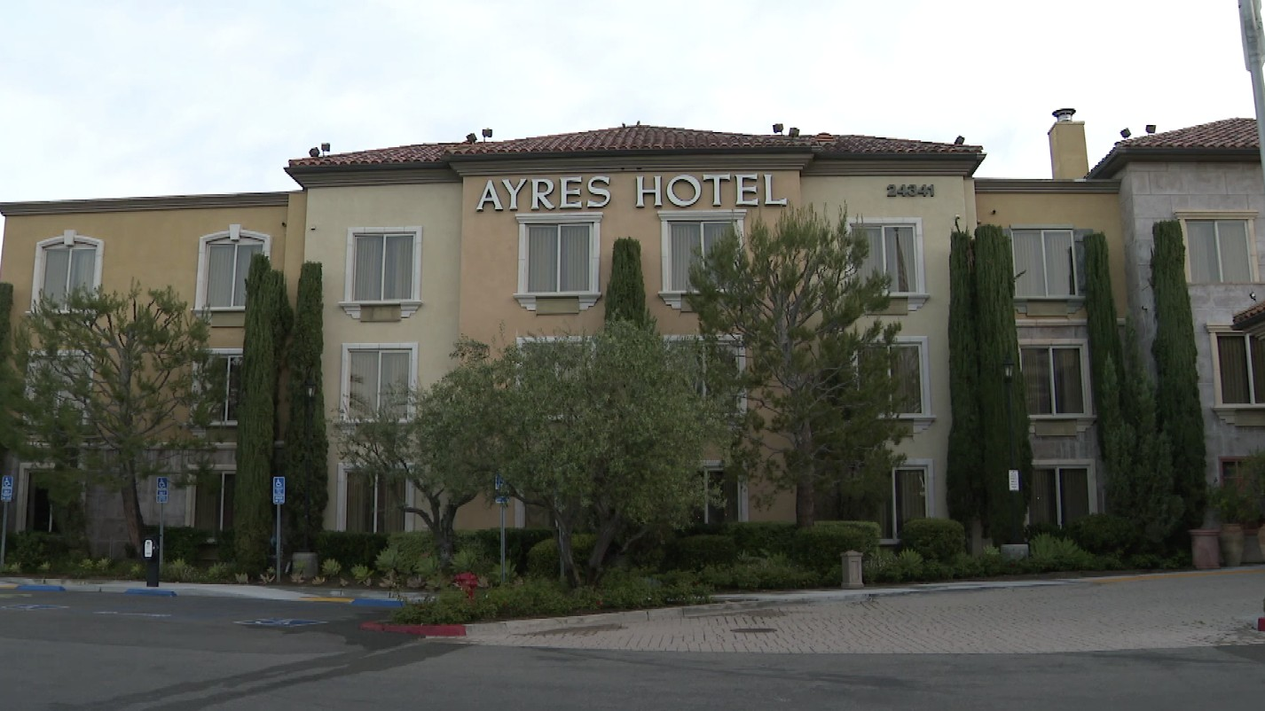 The Ayres Hotel in Laguna Woods is seen in this file photo. (KTLA)