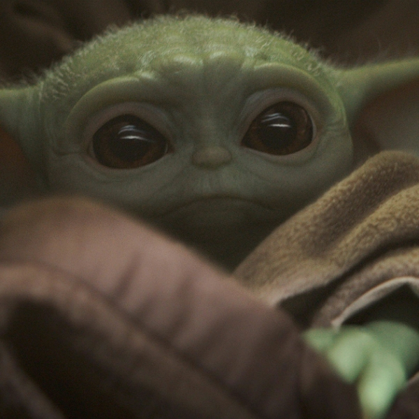 """The Child, affectionally known as """"Baby Yoda"""" is seen in image from """"The Mandalorian."""" (Disney+)"""