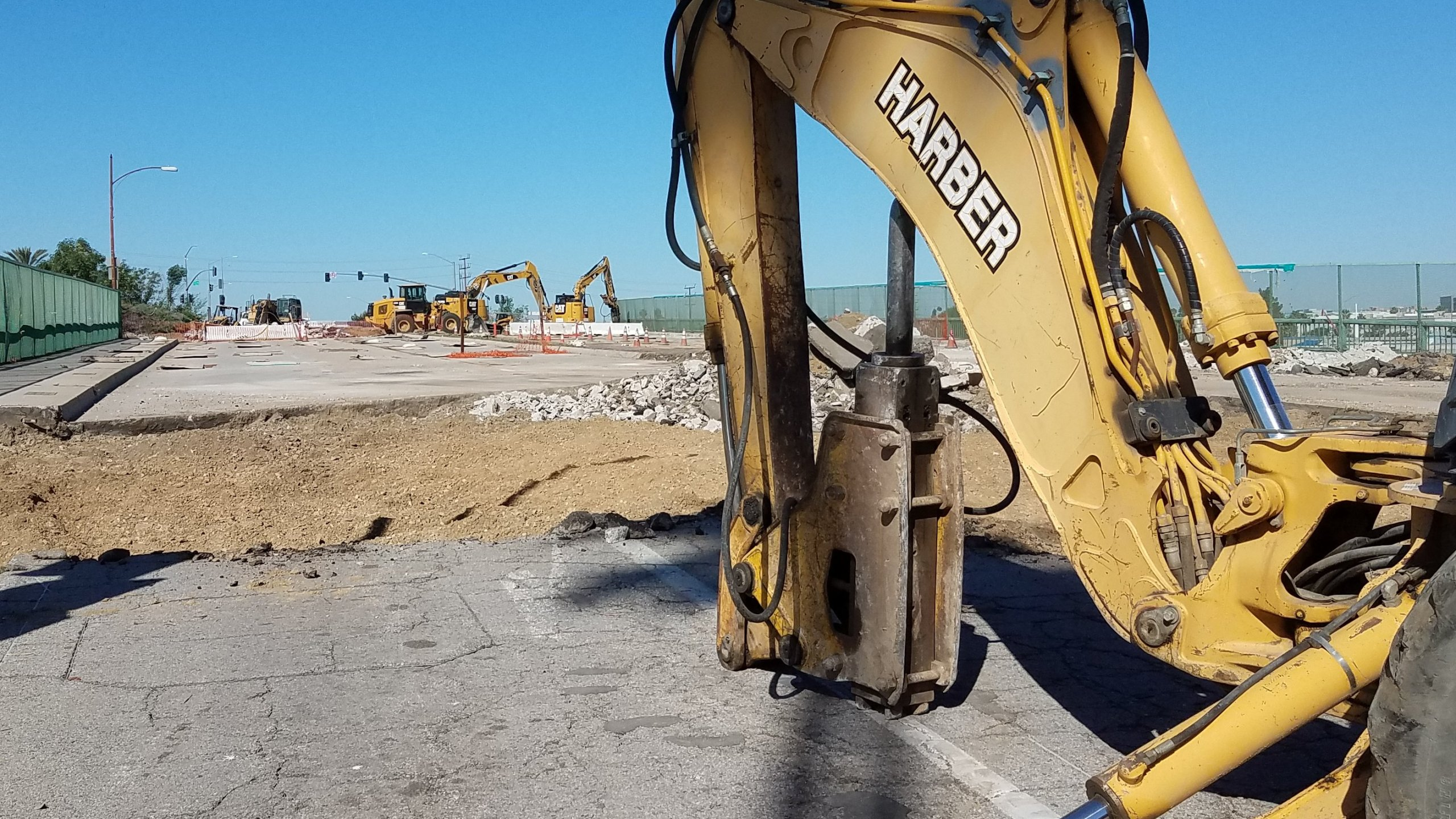 The Caltrans Twitter account dedicated to updates on 5 Freeway construction projects posted this image of bulldozing equipment on April 25, 2020.