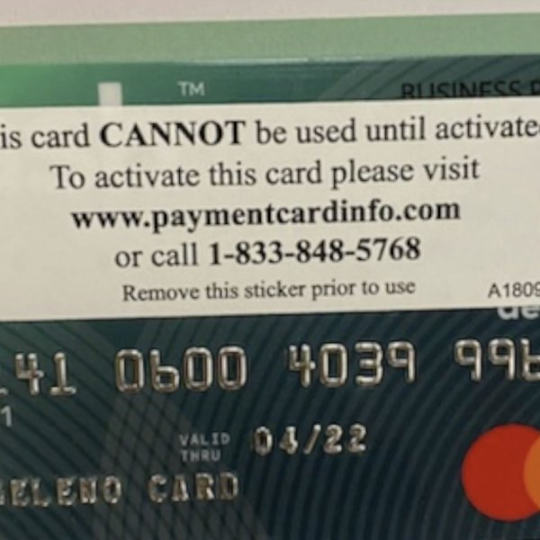 The Angeleno Card is seen in a photo provided by Los Angeles Mayor Eric Garcetti's office.