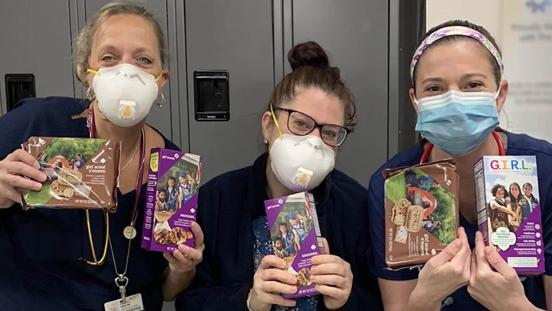 Girl Scouts help during the coronavirus crisis in an undated photo. (Girl Scouts of Southern Alabama)