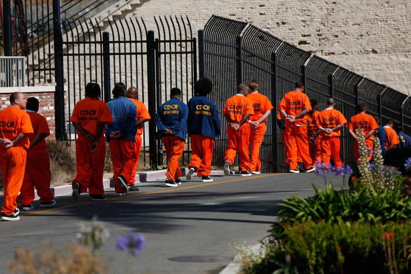 Inmates at San Quentin State Prison.(Gary Coronado / Los Angeles Times)