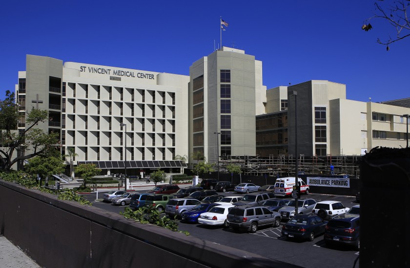The former St. Vincent Medical Center is seen in an undated photo. (Brian van der Brug / Los Angeles Times)