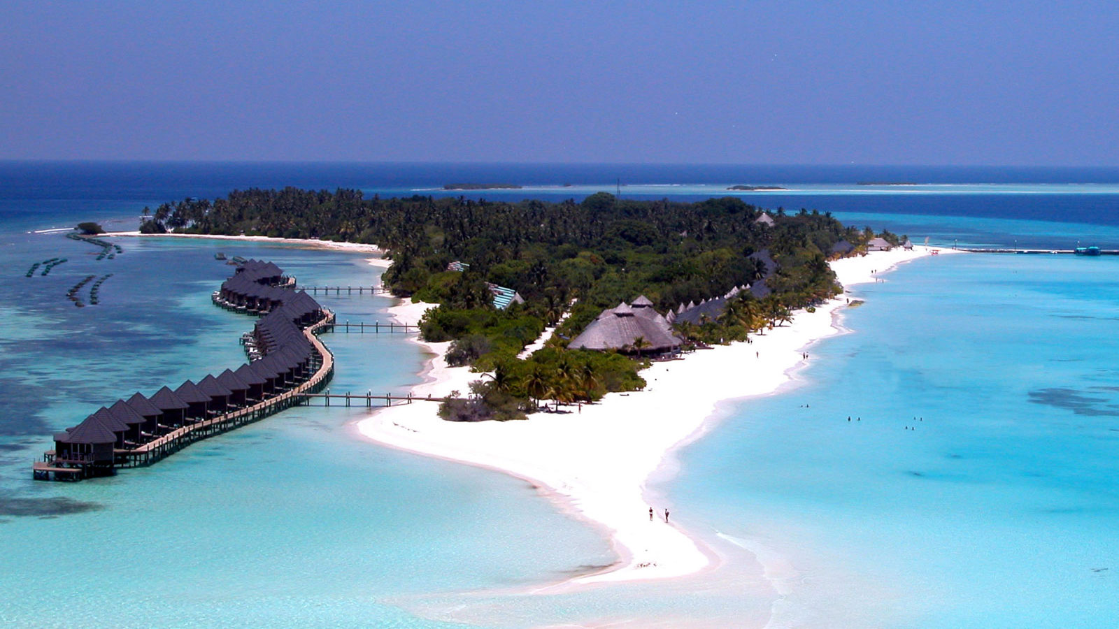 Hundreds of tourists have been stranded in the Maldives because of the coronavirus pandemic. (Kuredu Island Resort via CNN)