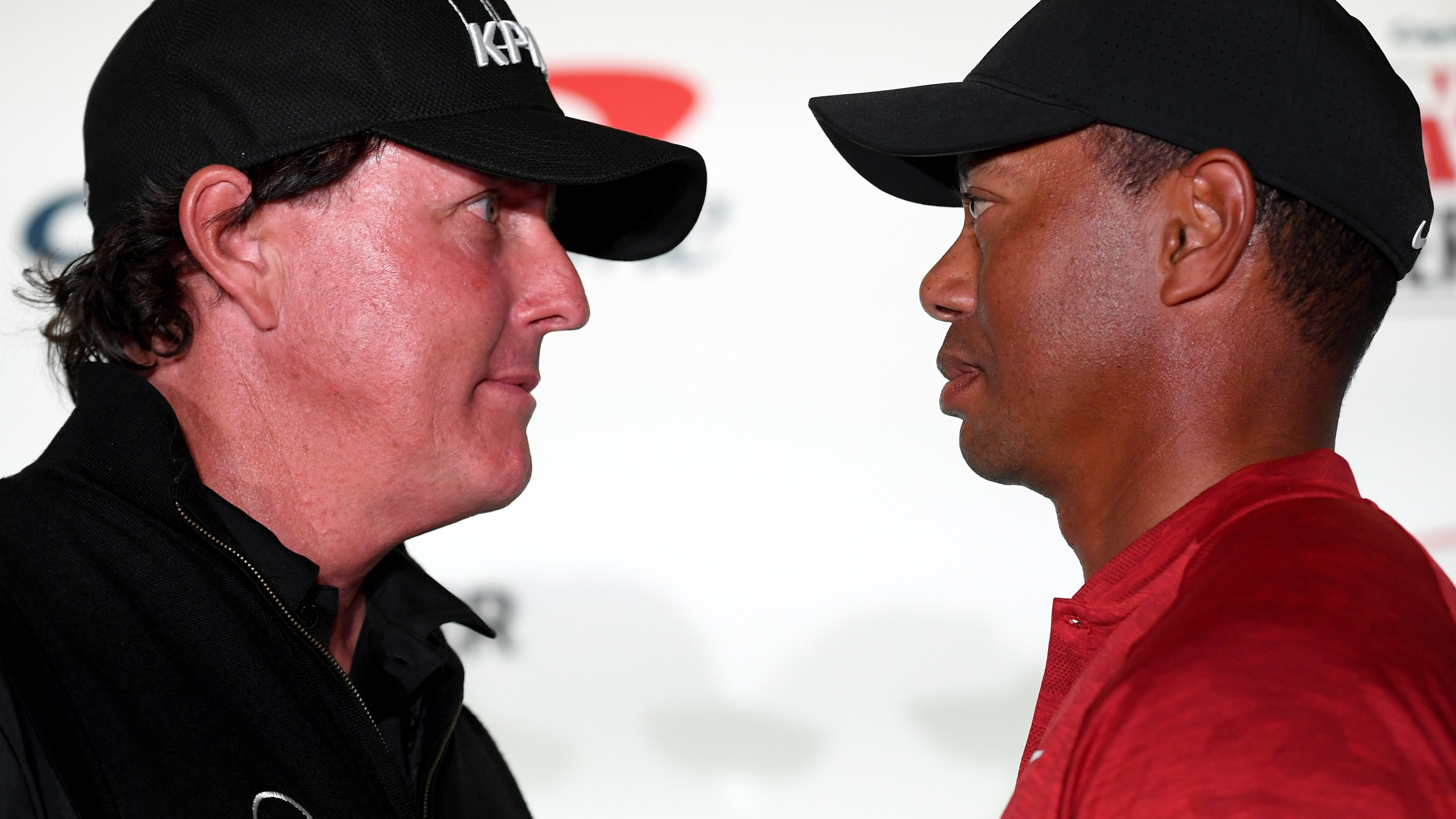 Tiger Woods and Phil Mickelson are set to be joined by NFL legends Tom Brady and Peyton Manning in a possible televised charity match. (Harry How/Getty Images for The Match)