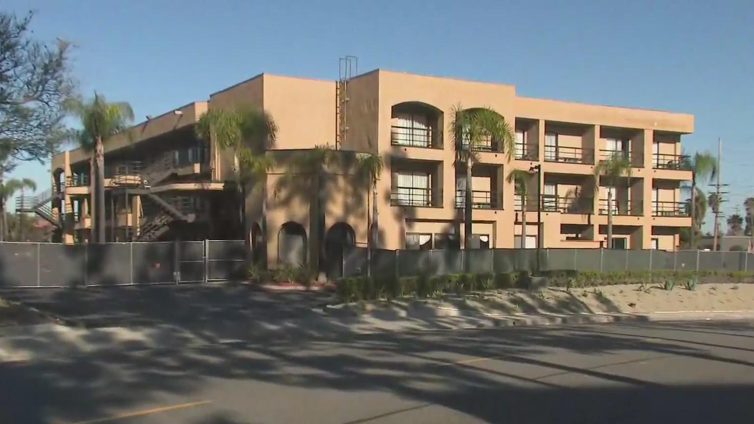 The Laguna Hills Inn is seen in this image taken on April 16, 2020. (KTLA)