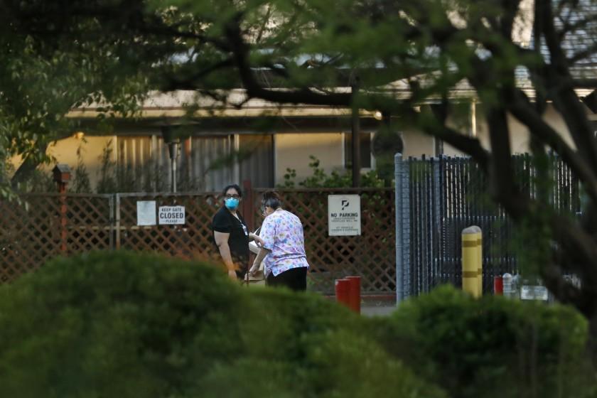 Redwood Springs Healthcare Center in Visalia in an undated photo. (Genaro Molina / Los Angeles Times)
