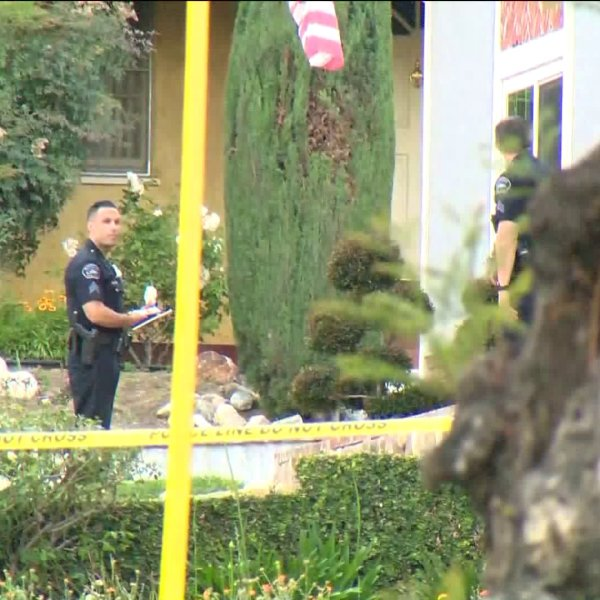 Police were investigating a shooting in Burbank on May 18, 2020. (KTLA)