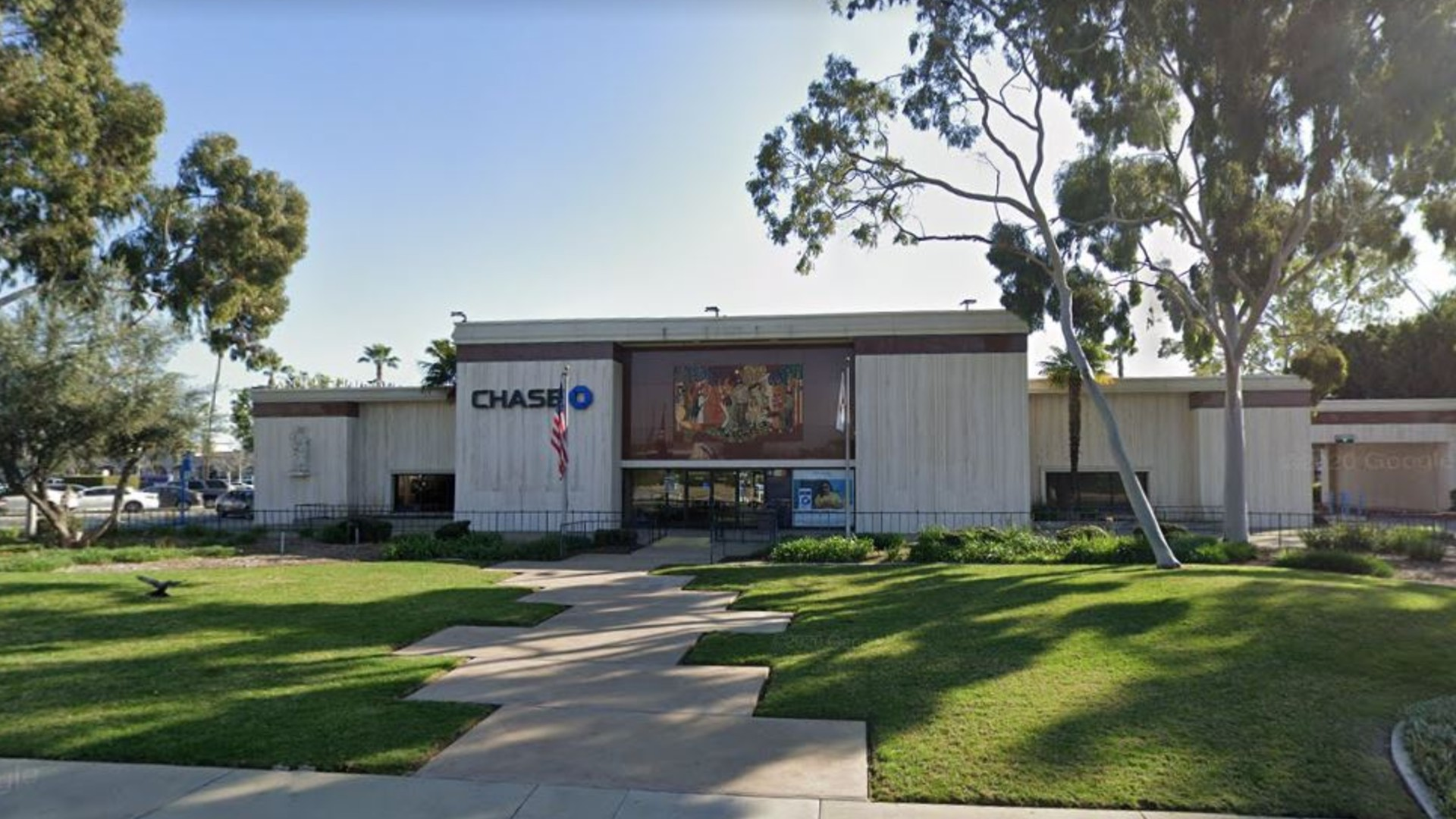Chase Bank, 15128 E, Rosecrans Ave. in La Mirada, as pictured in an Google Street View image.