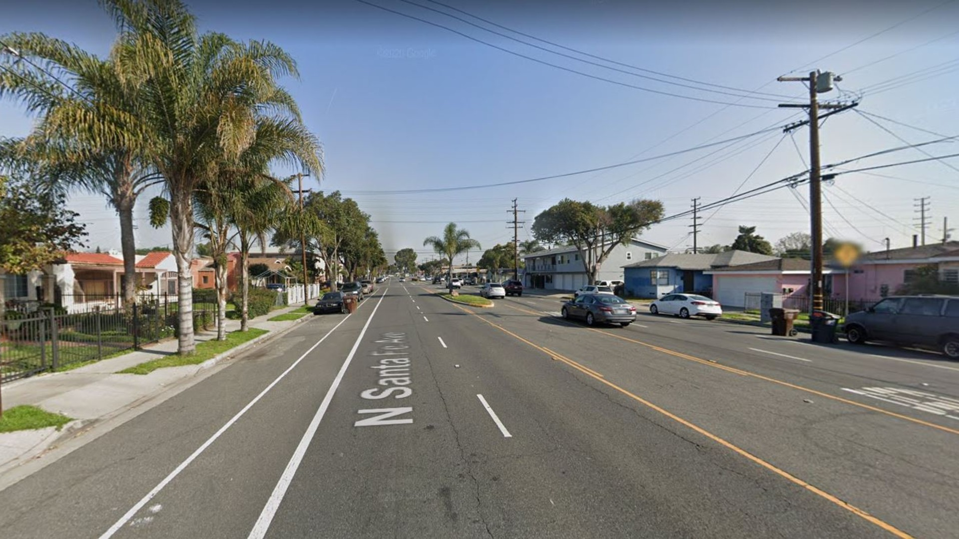 The 600 block of North Santa Fe Avenue in Compton, as viewed in a Google Street view image.